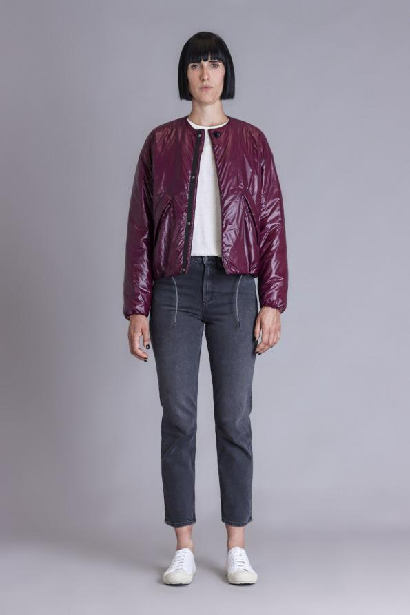 Aubergine bomber jacket waterproof