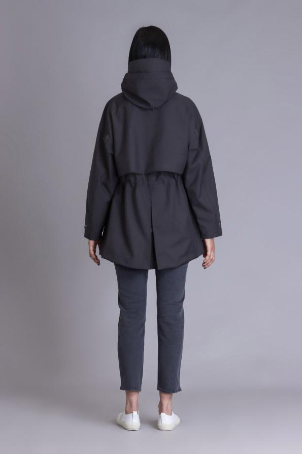 women waterproof hooded parka coat
